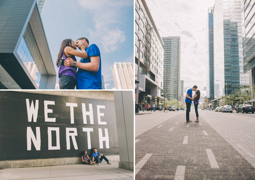Raptors engagement photos - Olive Photography
