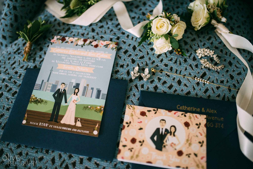 Toronto wedding invitations