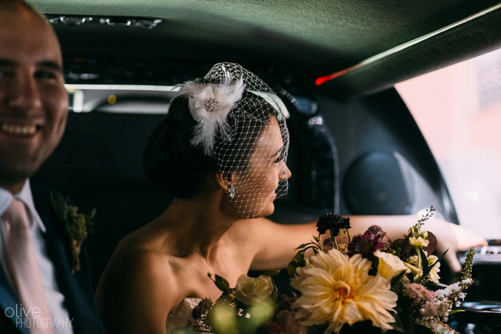 limo wedding photos