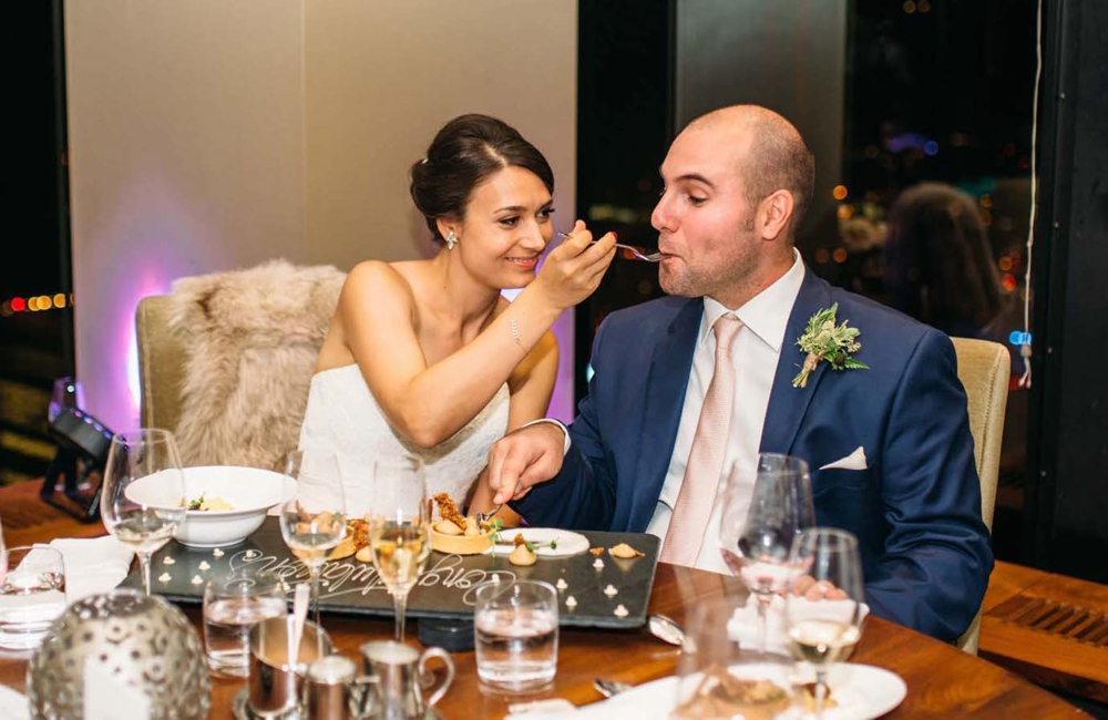 Canoe Restaurant wedding Toronto