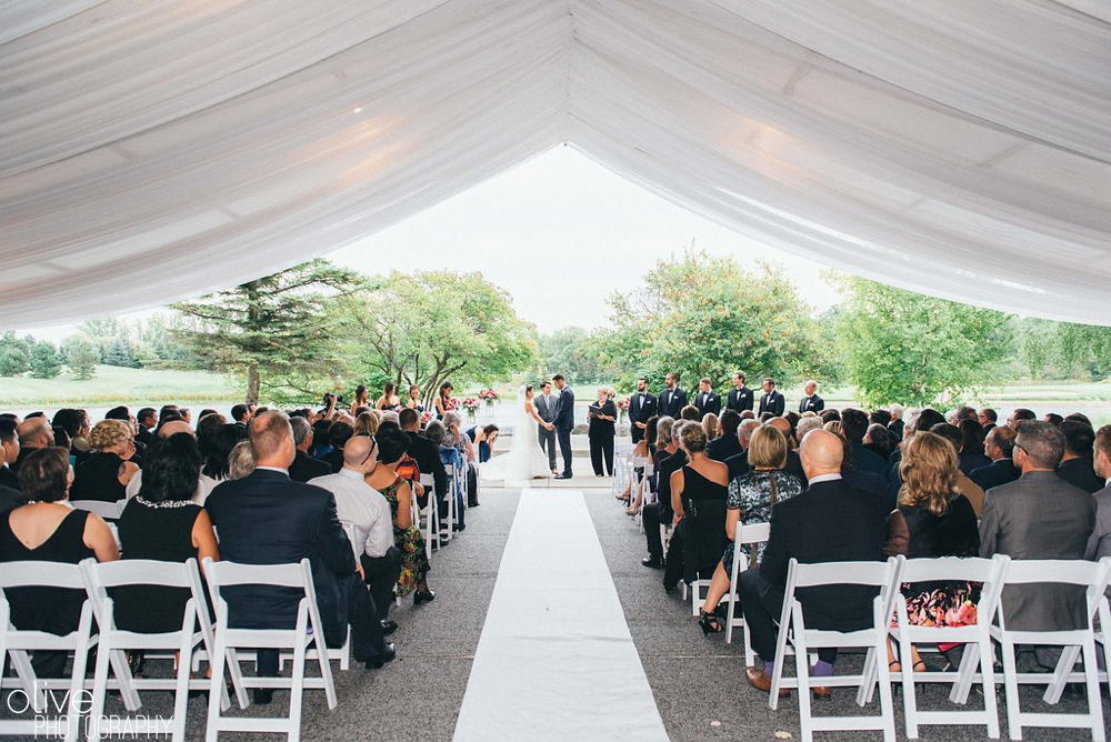 ceremony photos at The Manor