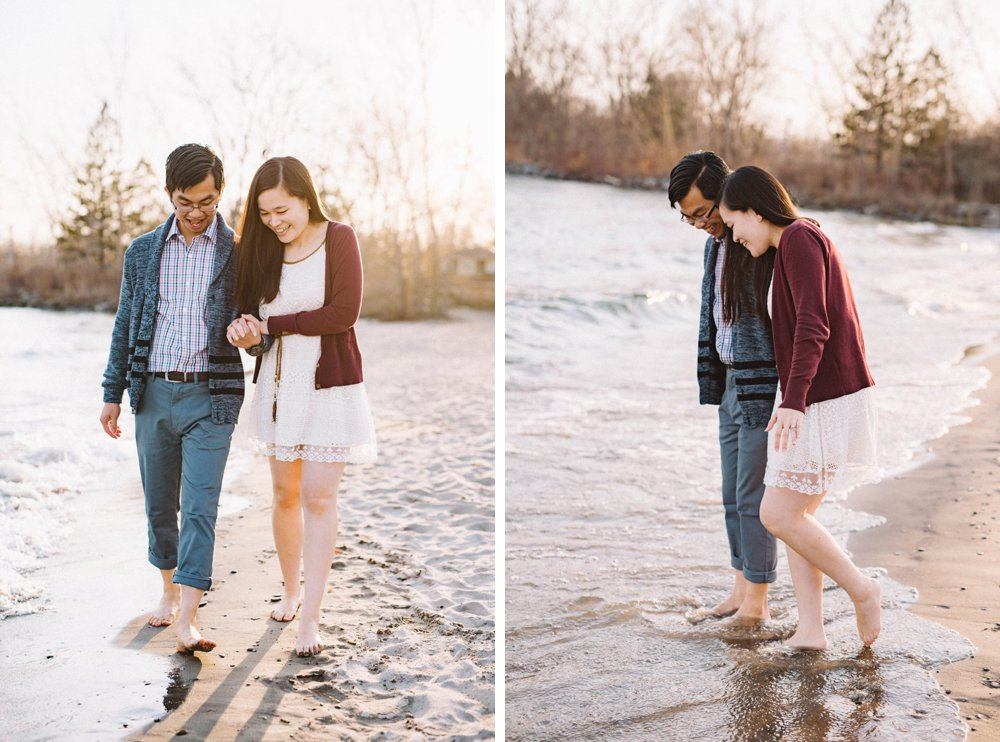 Toronto beach engagement