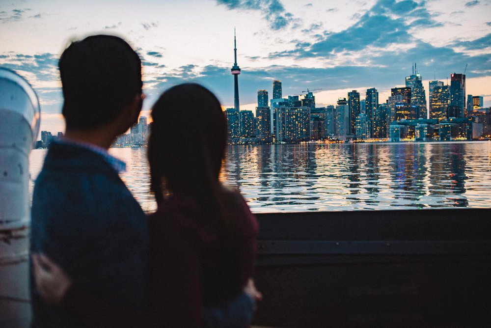Toronto skyline engagement