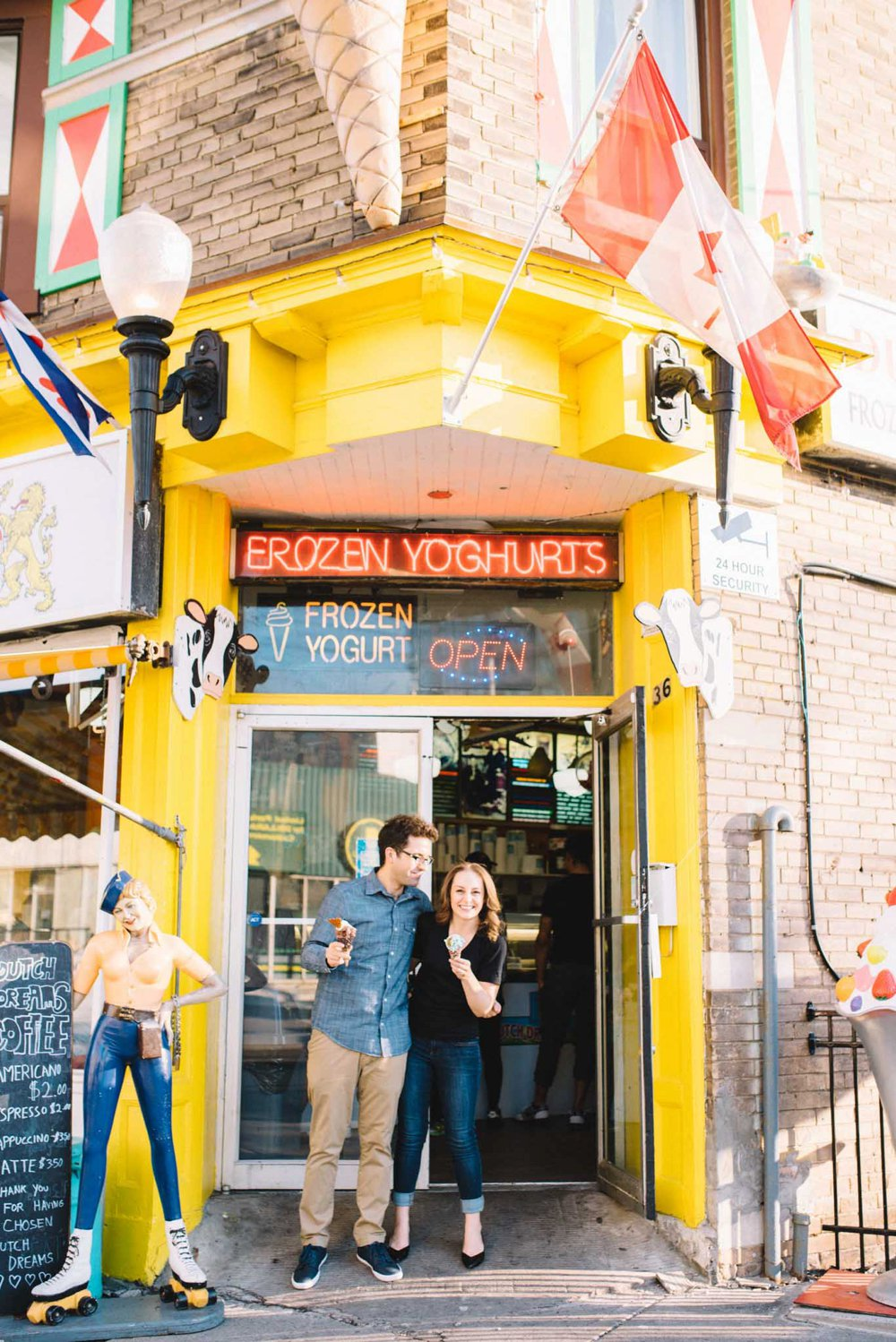 Dutch Dreams Toronto Ice Cream Engagement Session | Olive Photography