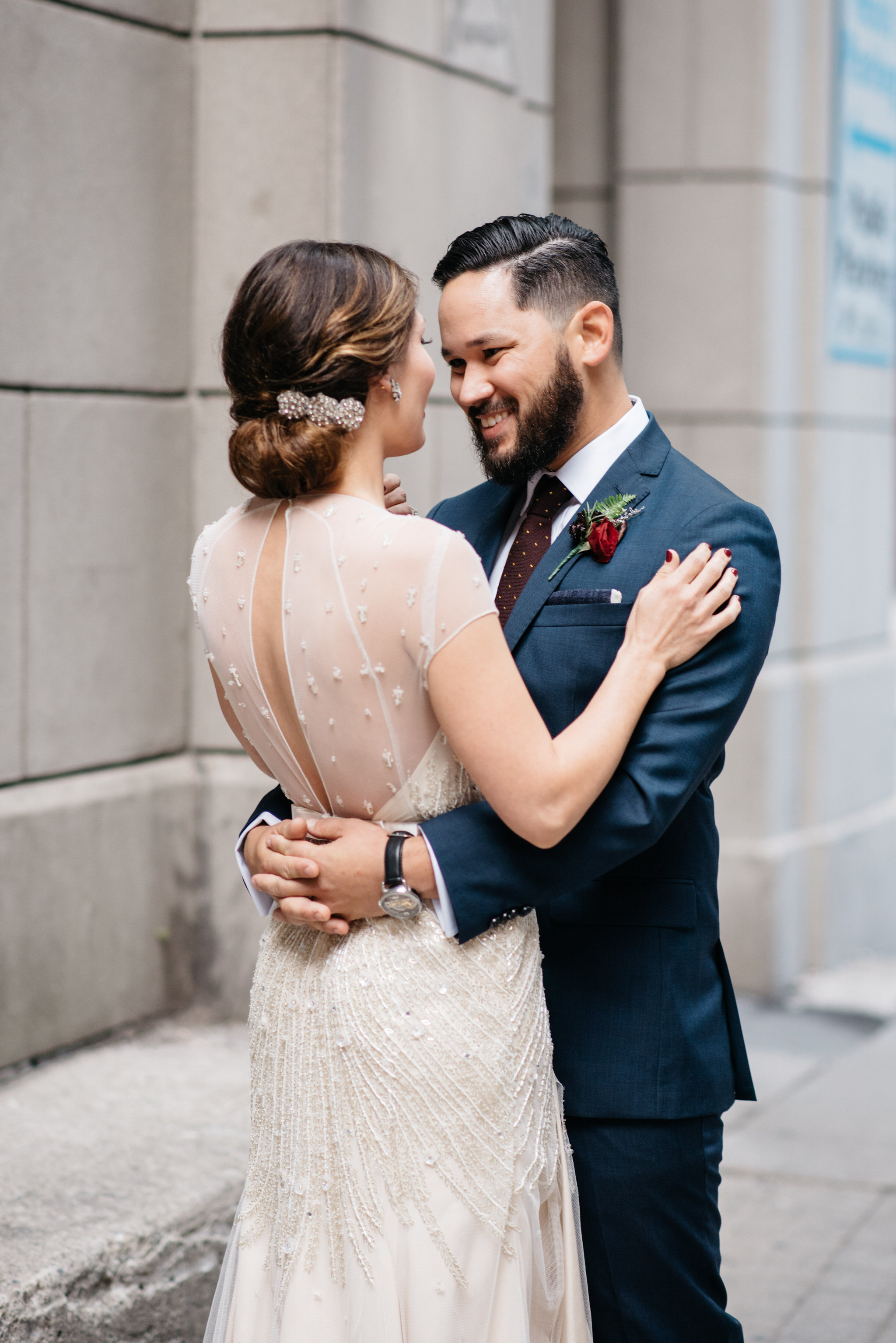 Keyhole Wedding Dress | Olive Photography Toronto