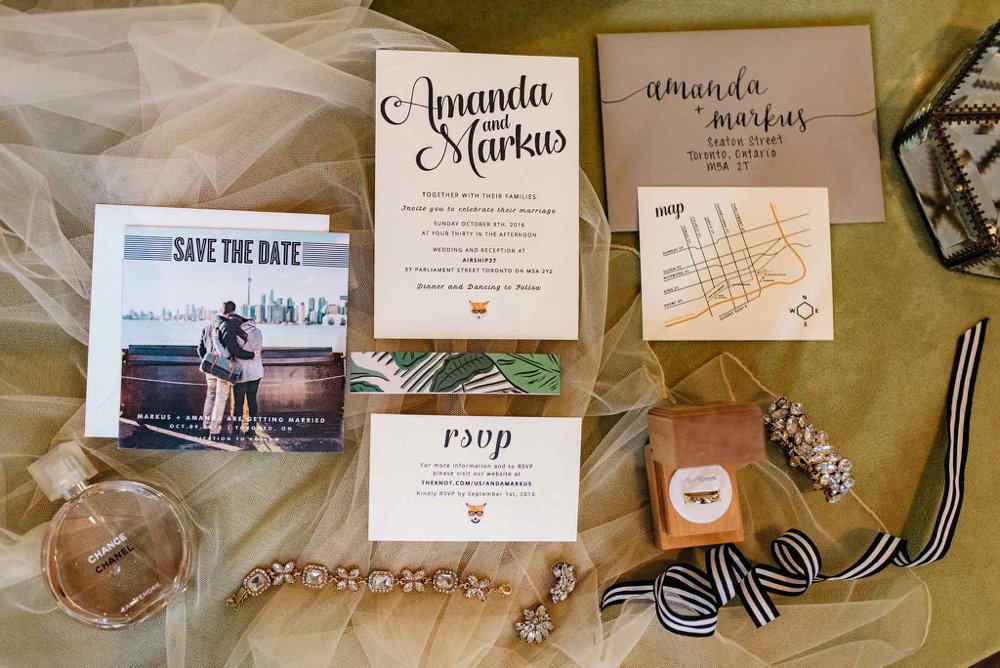 Modern Wedding Invitations | Olive Photography Toronto