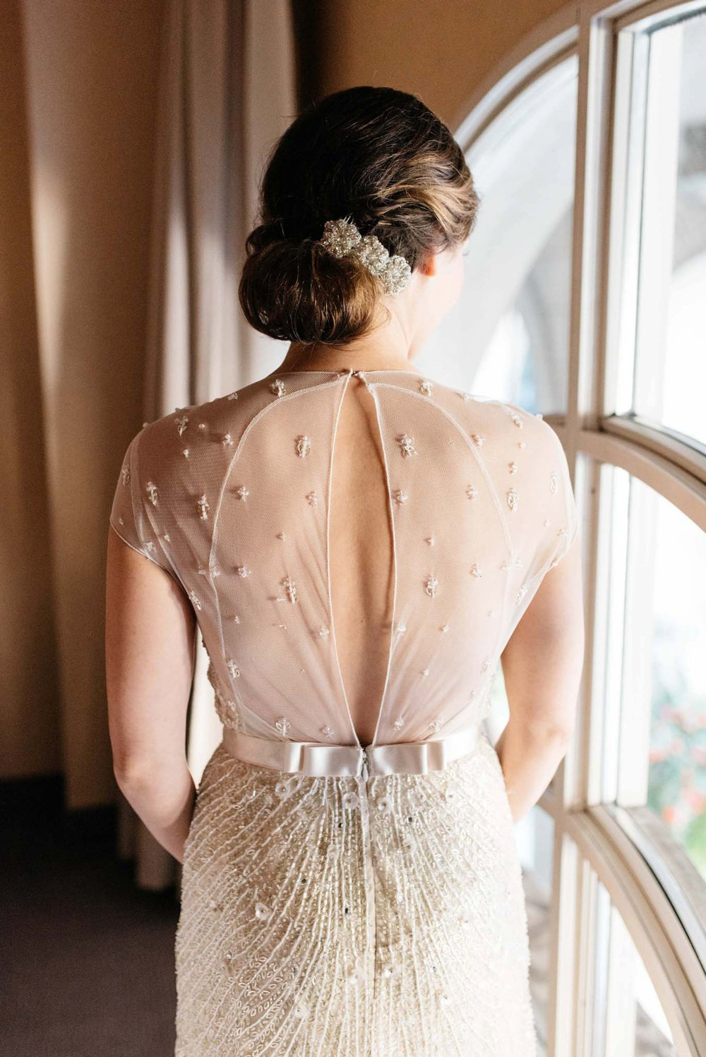Jenny Packham keyhole wedding dress | Olive Photography