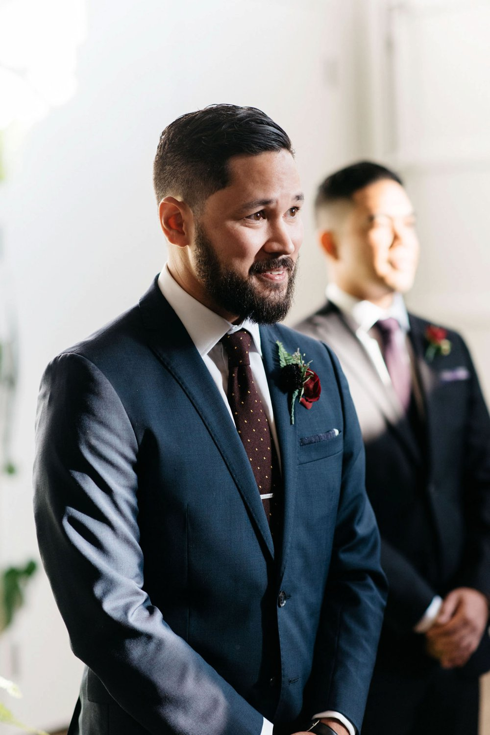 groom's reaction photos | Olive Photography Toronto