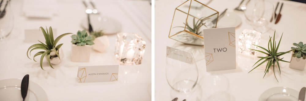 geometric wedding decor | Olive Photography