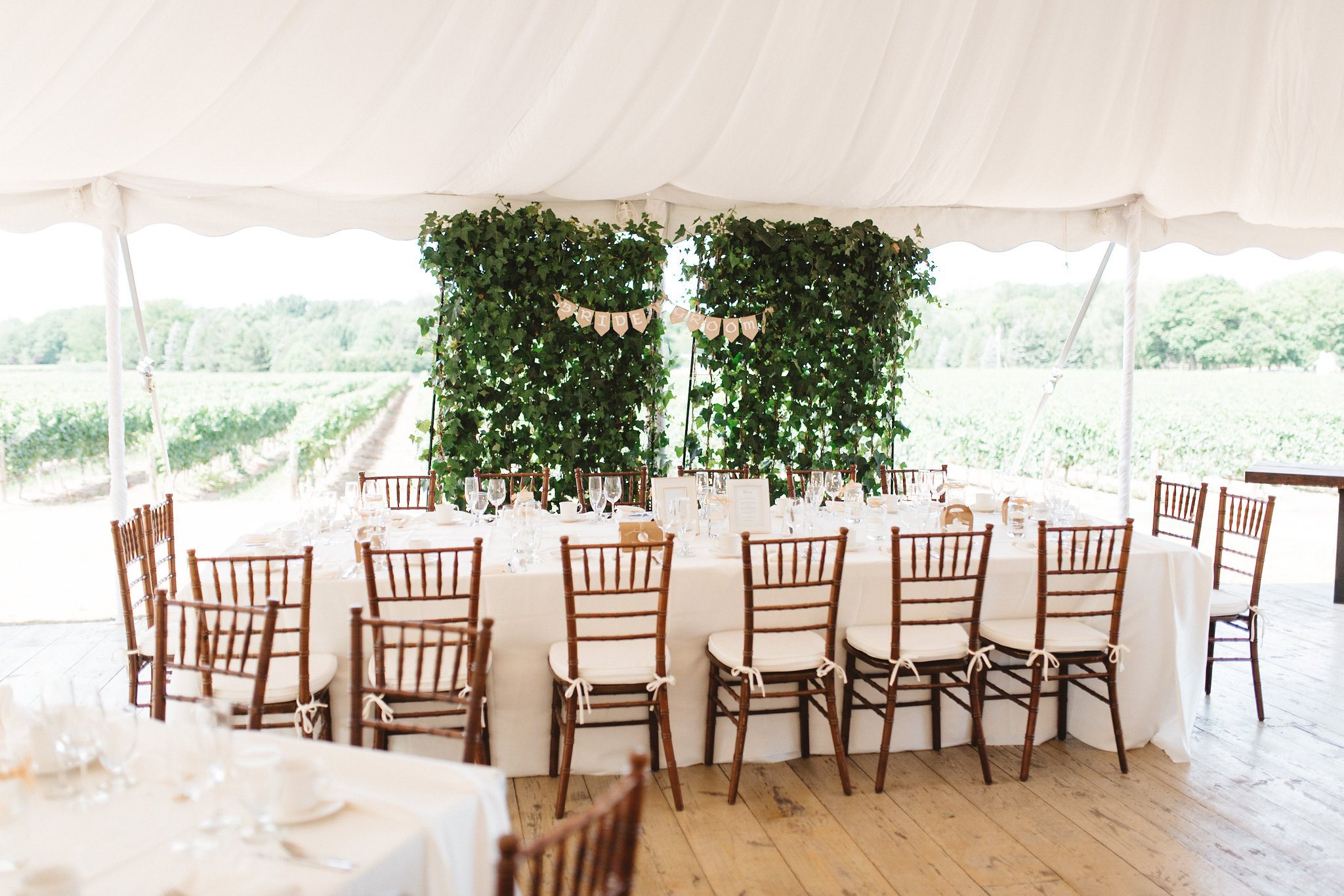 Outdoor Tent Wedding Head Table | Olive Photography