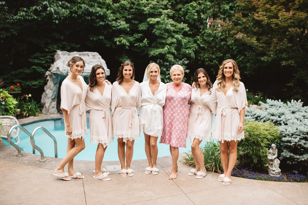 bridesmaids getting ready robes | Olive Photography