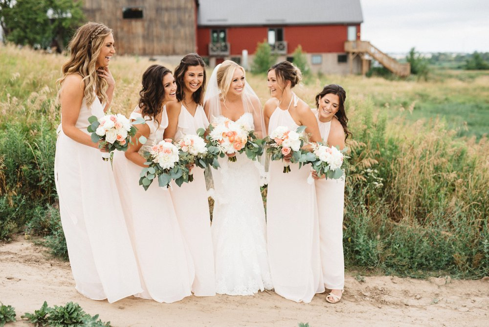 Blush Bridesmaids Dress Photos - Olive Photography