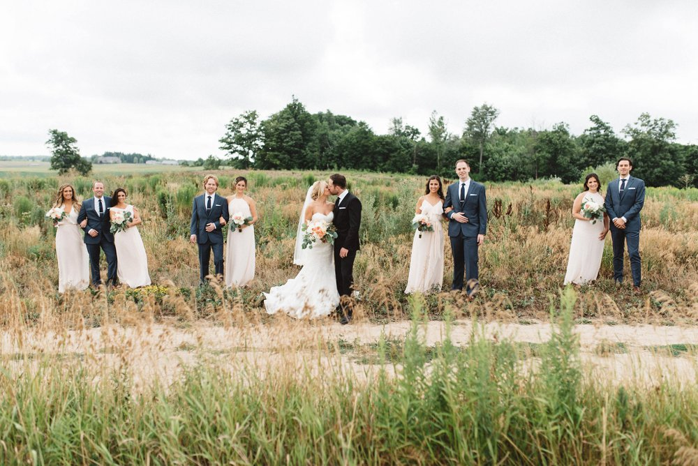 Ontario Farm Wedding Party Photos - Olive Photography