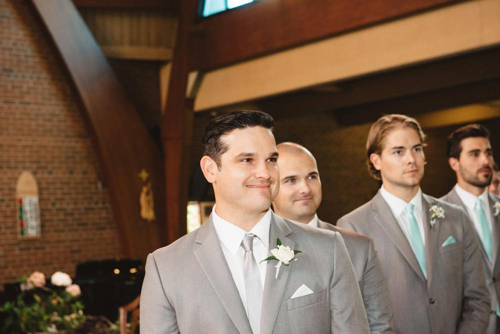 groom church reaction | Olive Photography