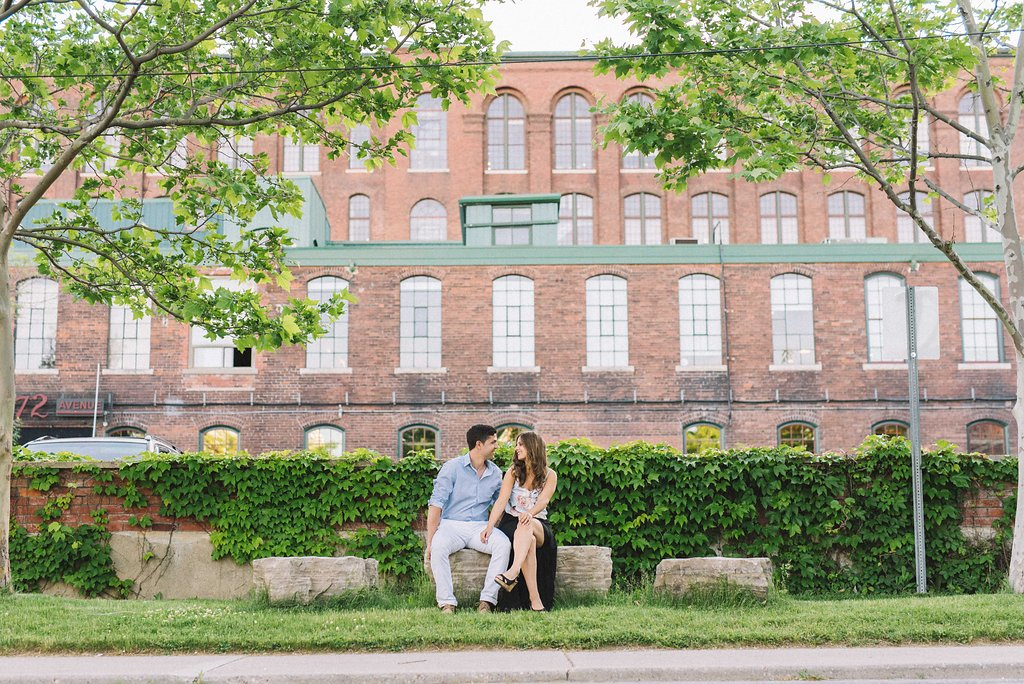 Liberty Village Engagement Photos - Toronto Photographer Olive Photography