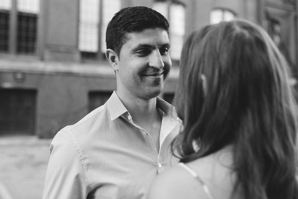 Black and white engagement photos - Toronto engagement photographer Olive Photography