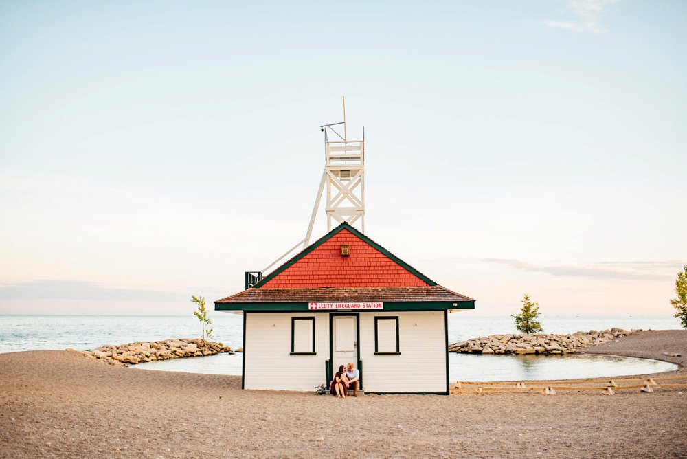 Leuty Life Guard Station Toronto Engagement Photos | Olive Photography