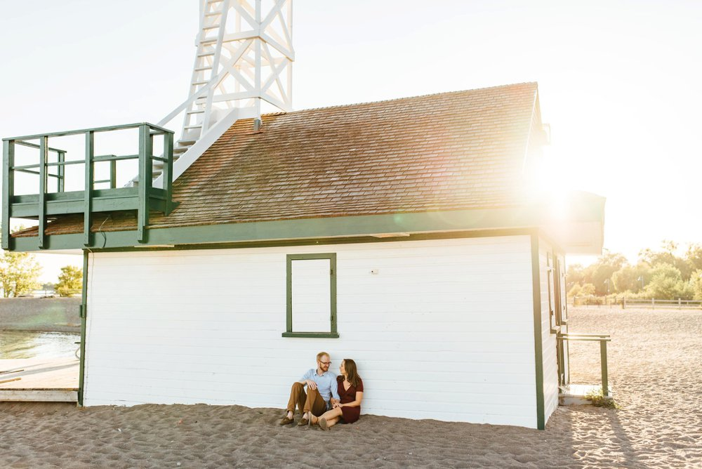 Leuty Lifeguard Station engagement photos | Olive Photography Toronto