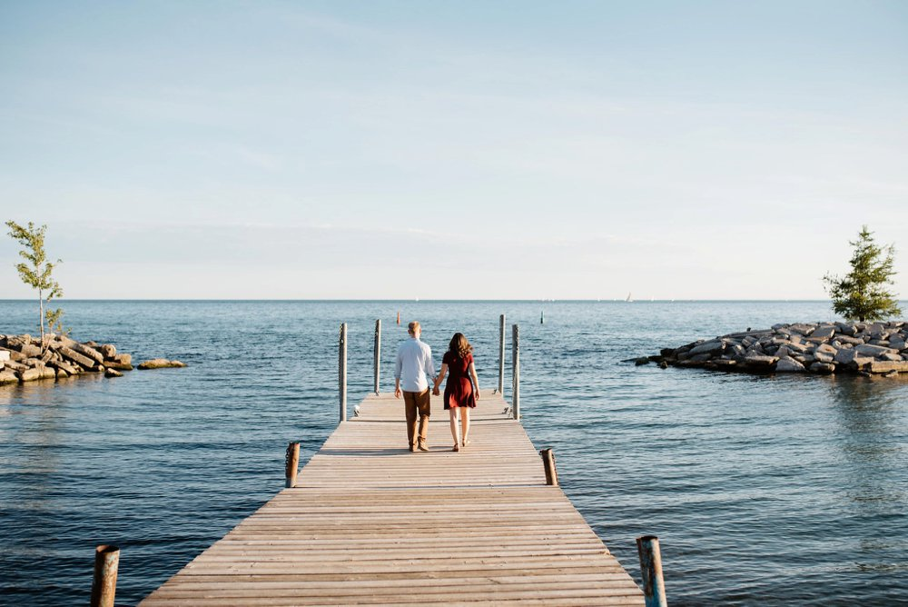 Dock and lake engagement photos Toronto | Olive Photography
