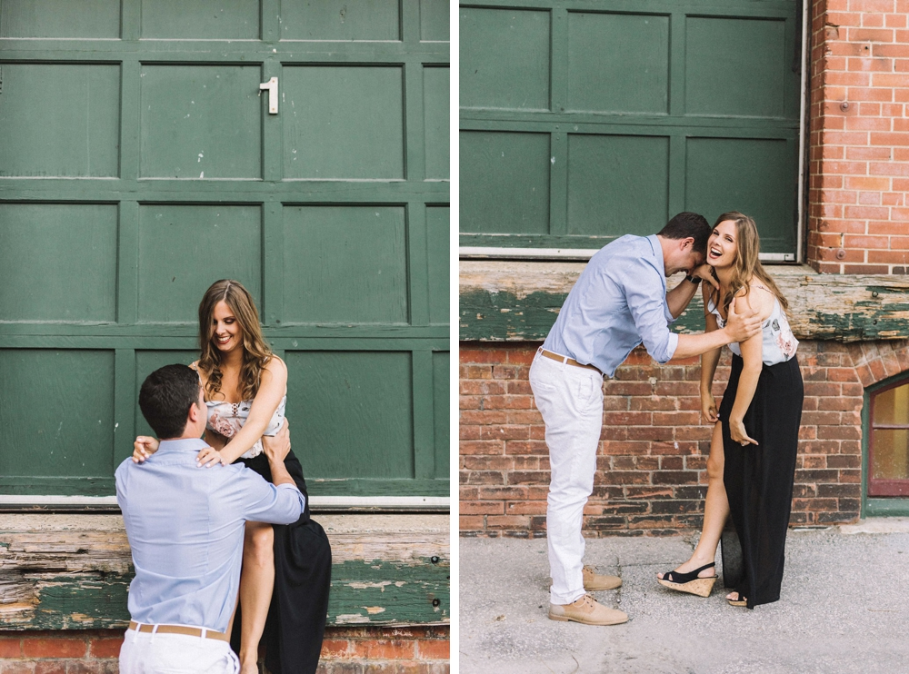 Industrial location Toronto - Liberty Village Engagement Photos - Olive Photography