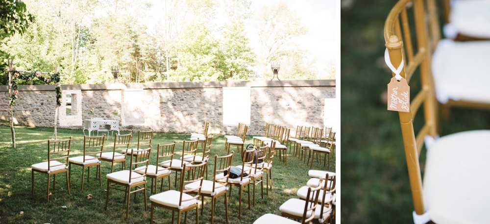 Outdoor Ceremony Chiavari Chairs - Olive Photography Toronto