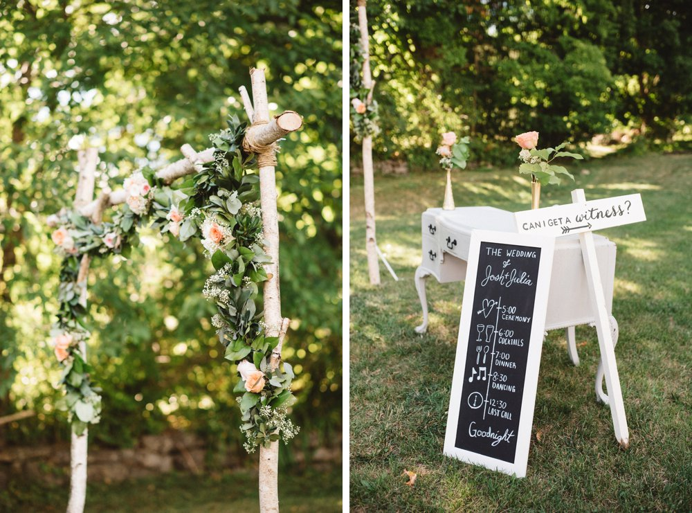 Outdoor Ceremony Decor - Olive Photography Toronto