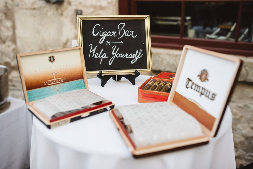 Wedding Cigar Bar - Olive Photography Toronto