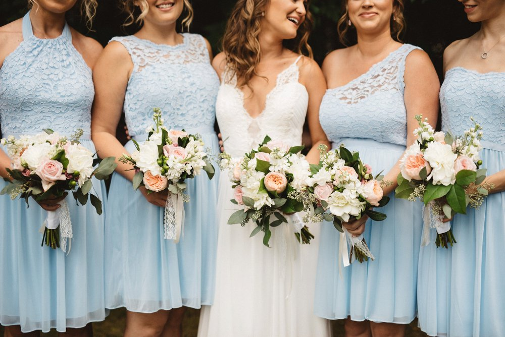 Blue Bridesmaids Dresses - Olive Photography Toronto