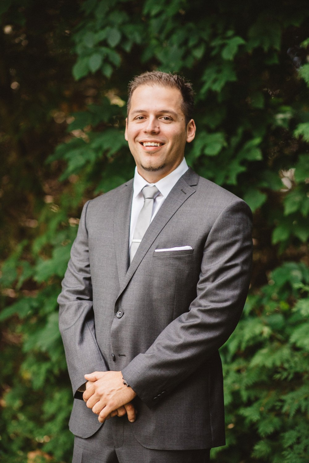 Grey groom suit - Olive Photography Toronto