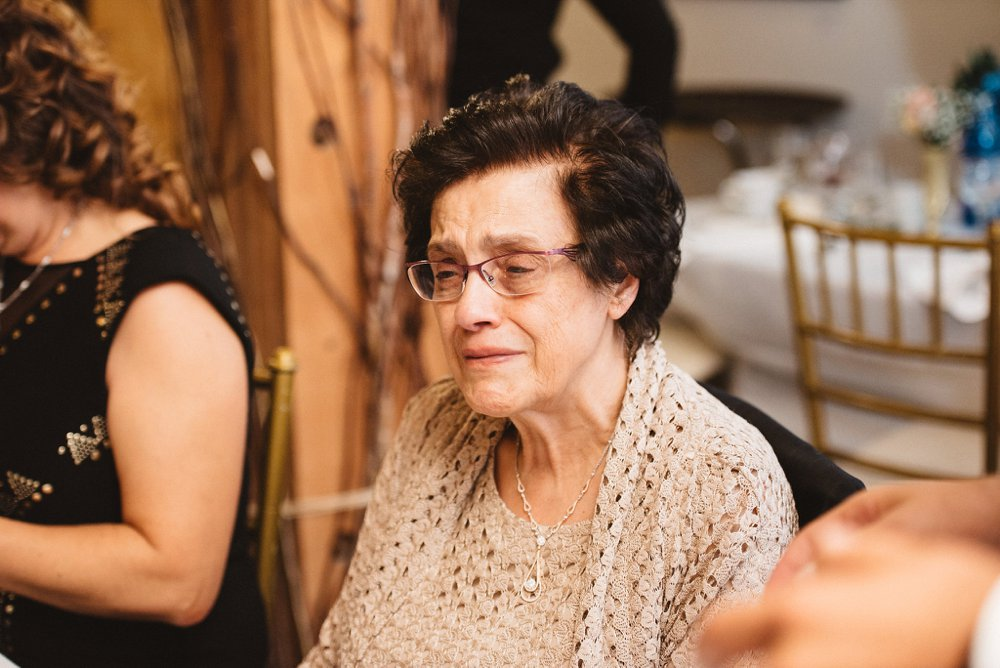 candid grandmother wedding photos - olive photography toronto