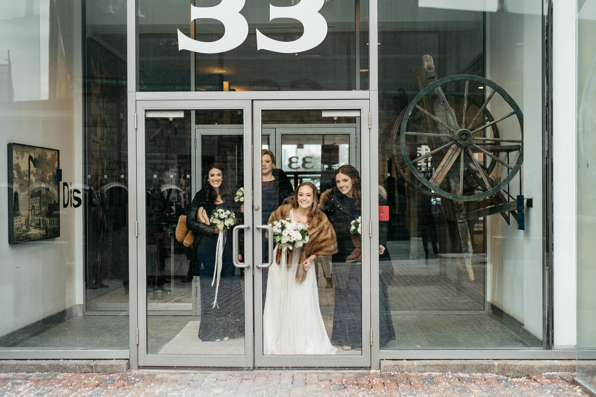 Distillery District wedding party photos - Olive Photography Toronto