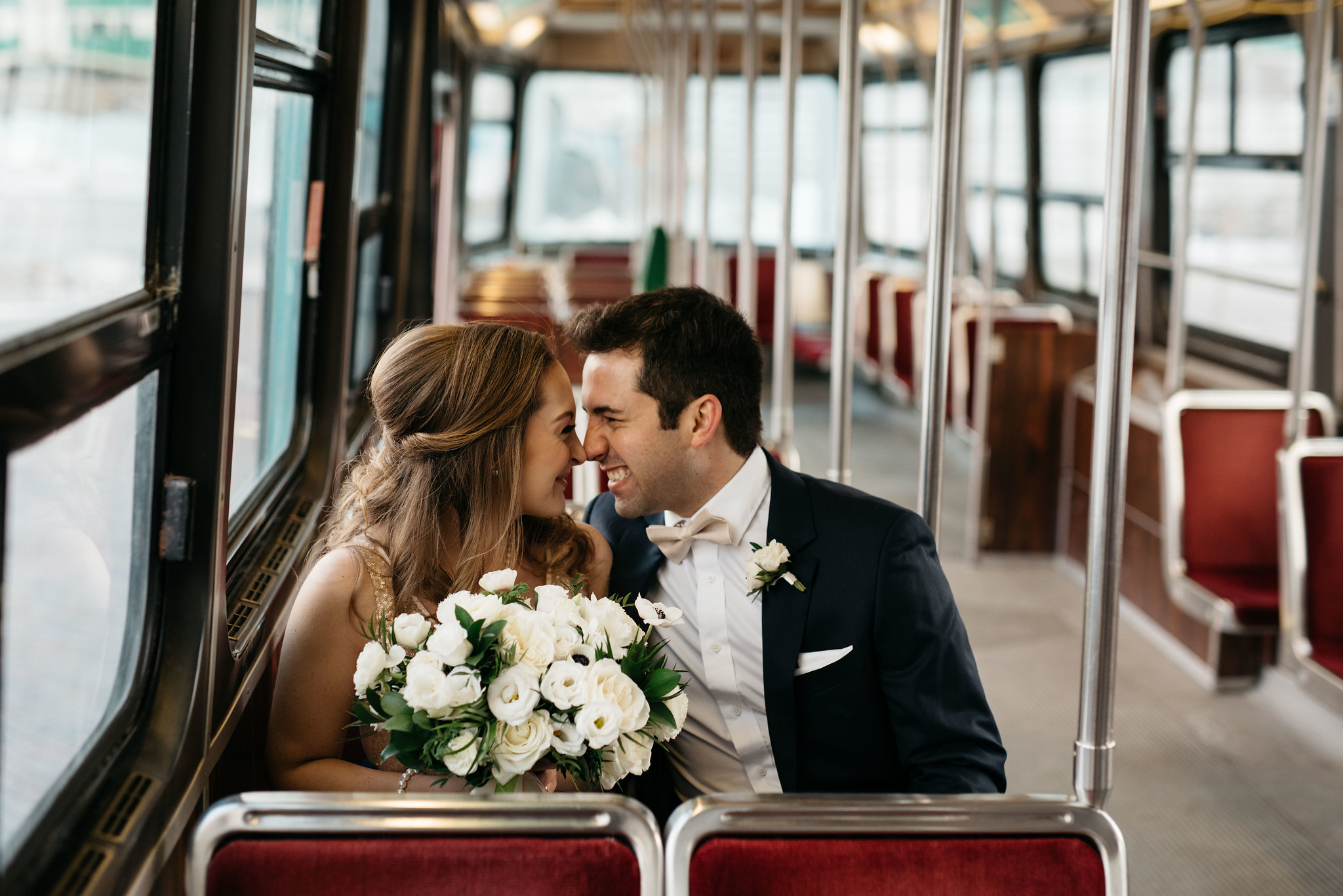 Streetcar wedding photos - Olive Photography Toronto