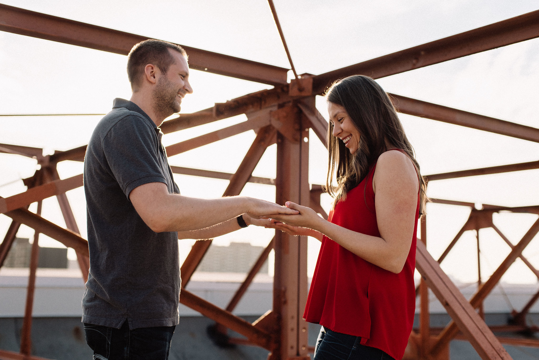 Rooftop engagement photos - Olive Photography Toronto