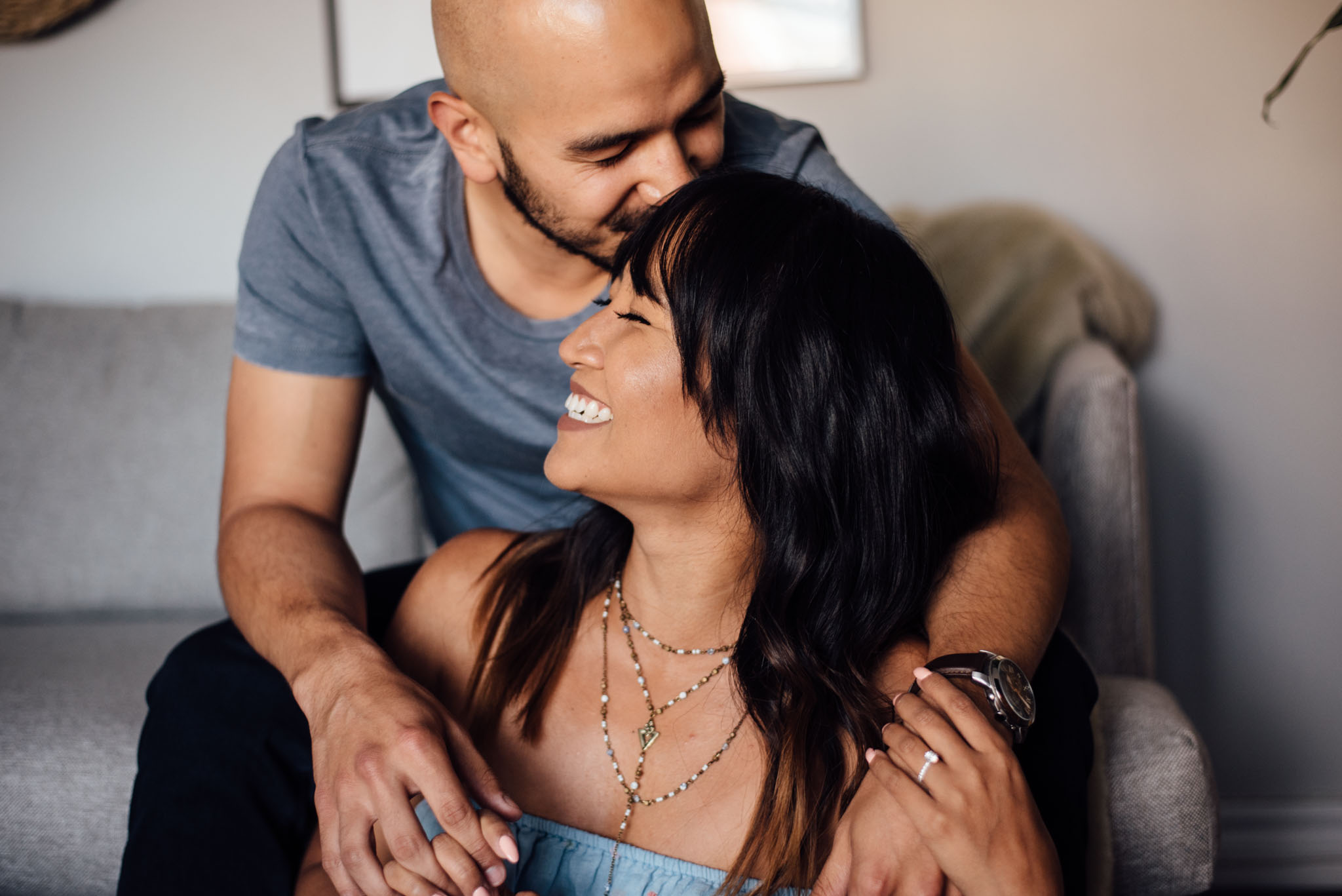 In-Home Engagement Session | Olive Photography Toronto