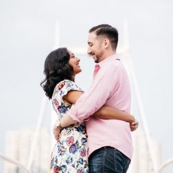Harbourfront Engagement Photos | Neha & Jeff