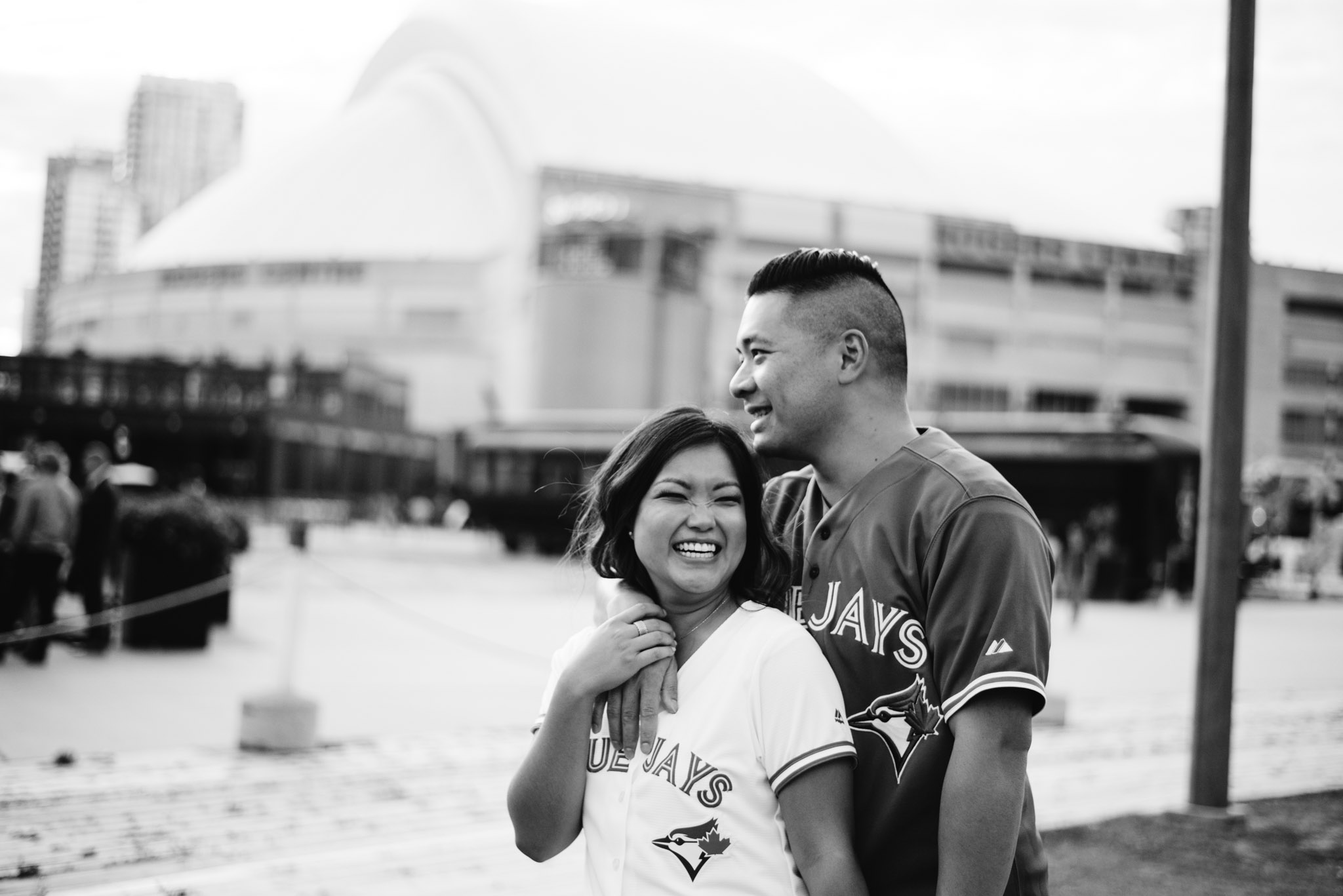 Rogers Centre Engagement Photos | Olive Photography Toronto