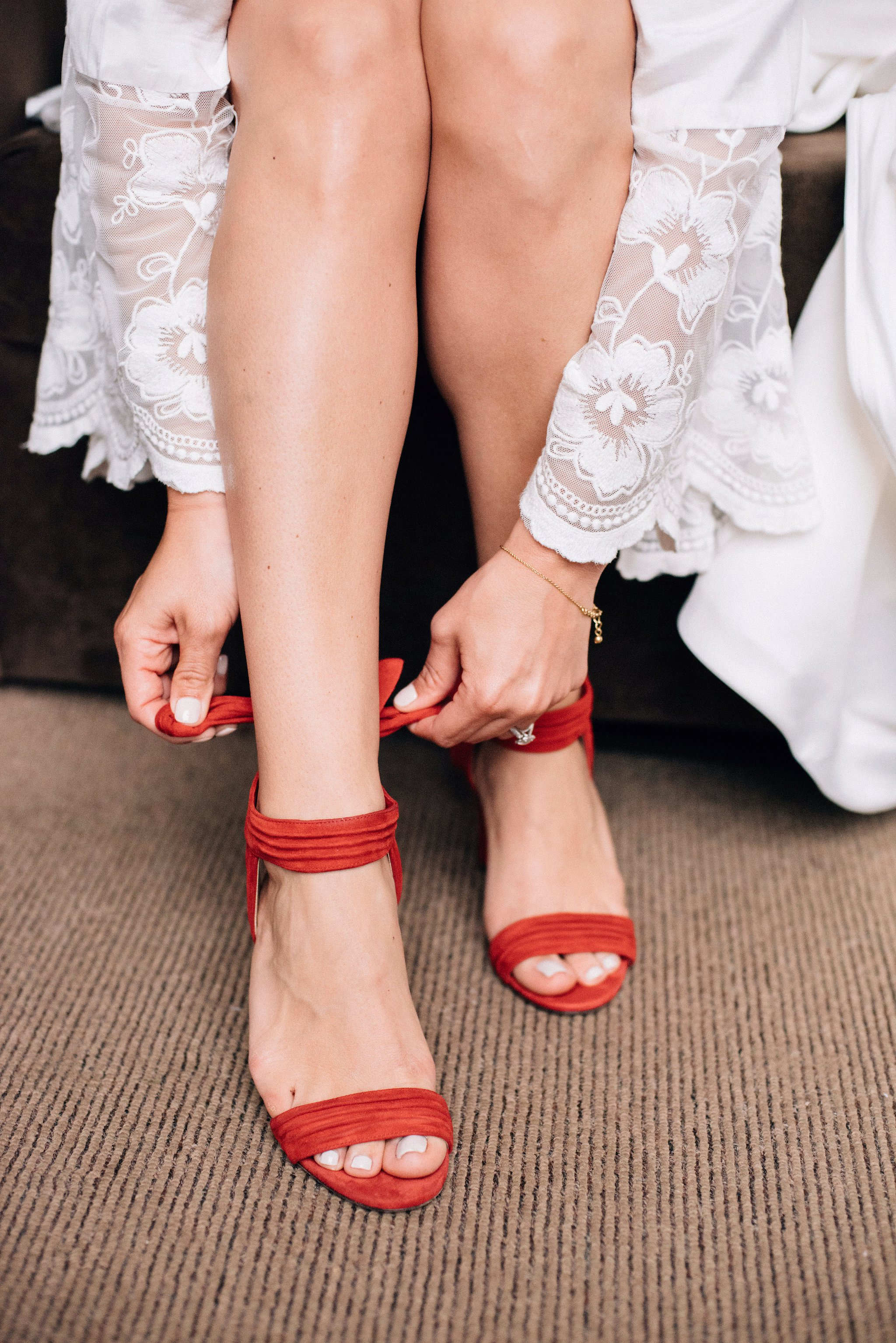 Red Wedding Shoes   Olive Photography