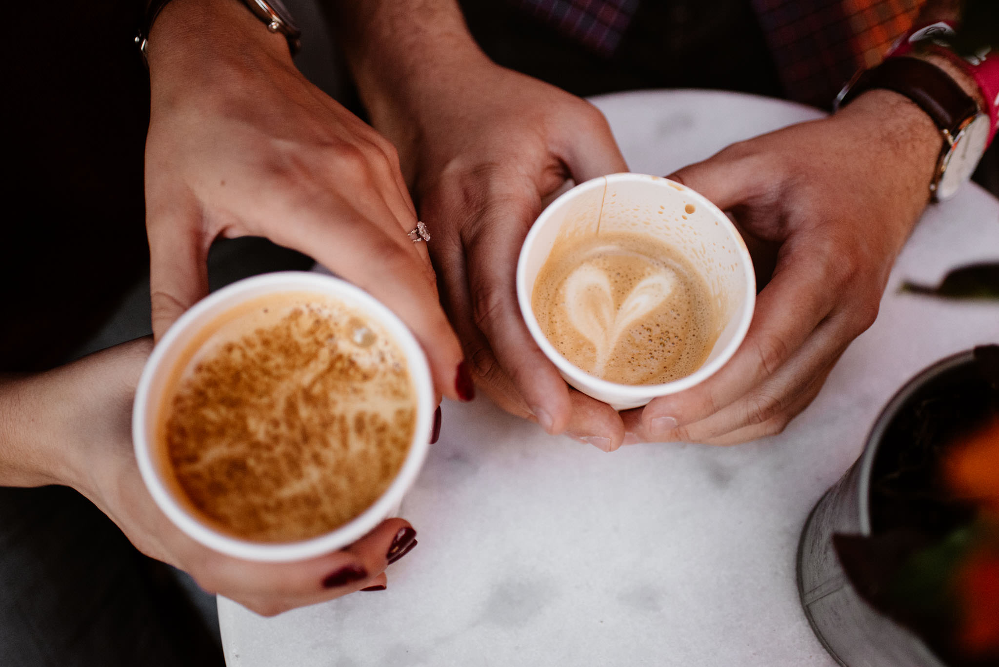 Rooster Coffee Engagement Photos | Olive Photography Toronto