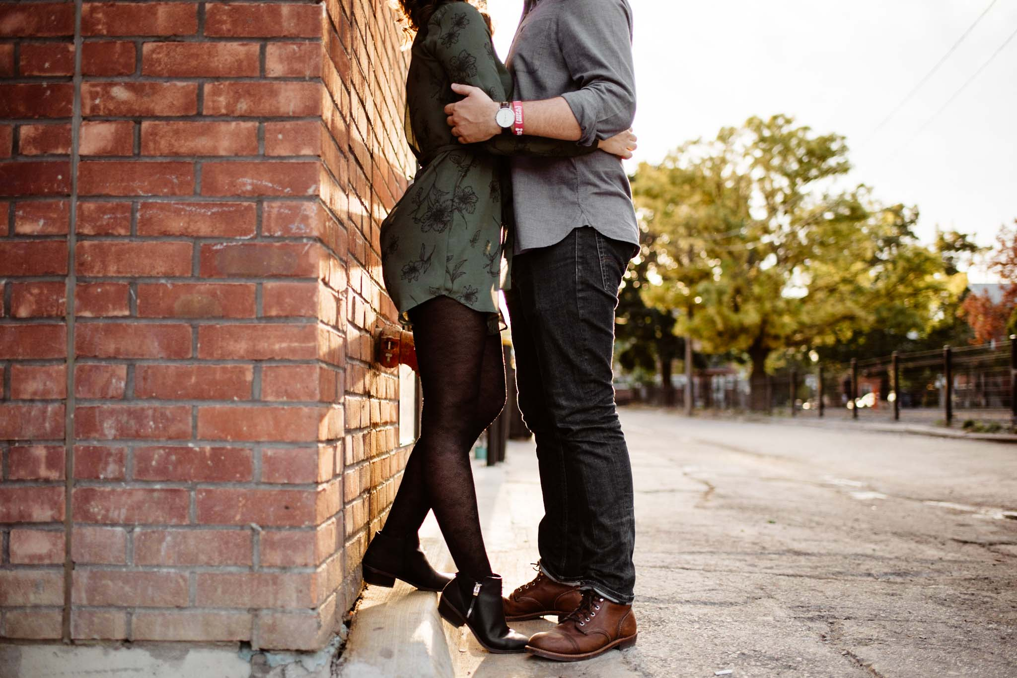 Leslieville Engagement - Olive Photography
