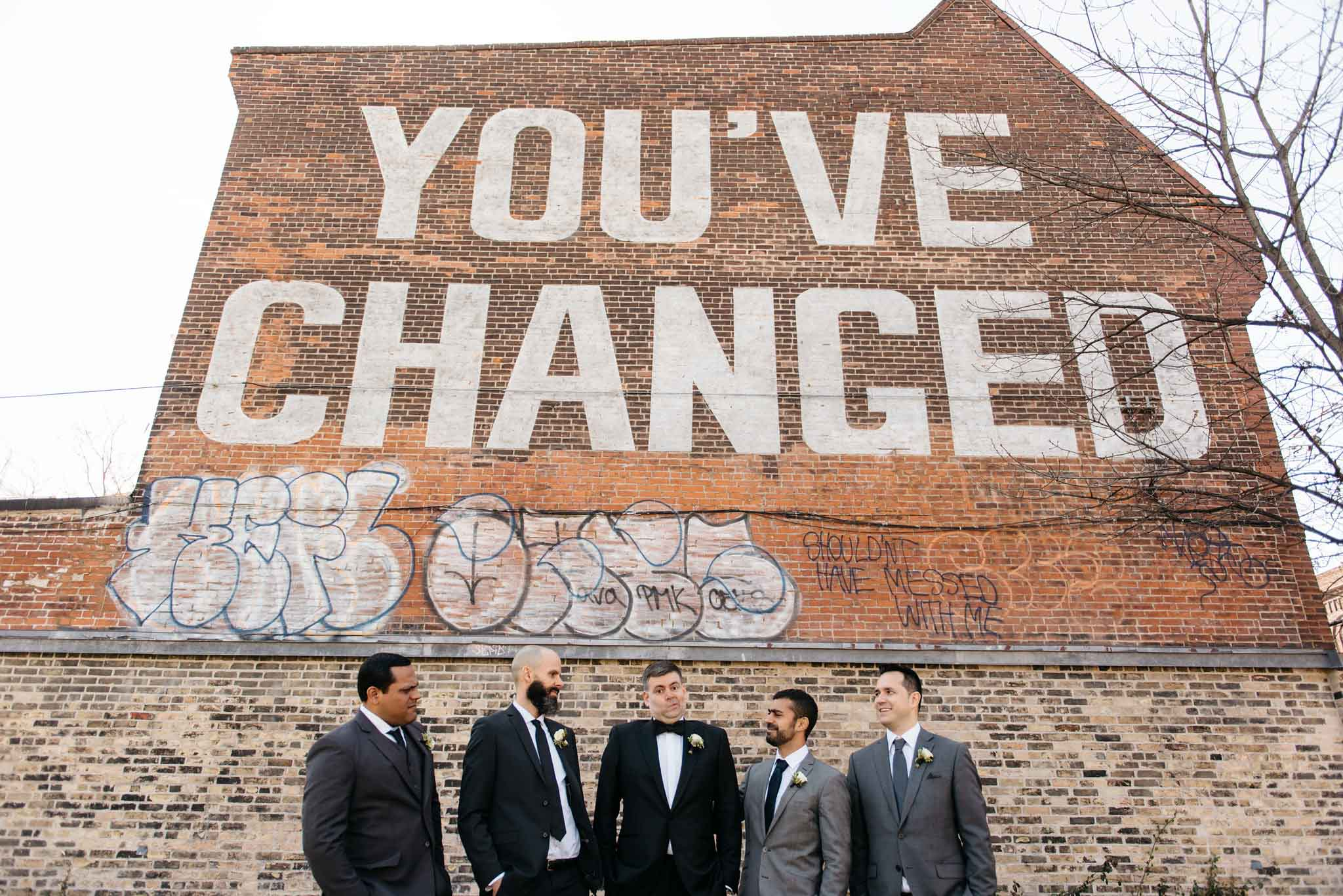 You've Changed Wall Wedding Party Photos | Olive Photography Toronto
