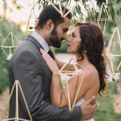 Geometric Wedding / Candlelit Elopement Inspiration