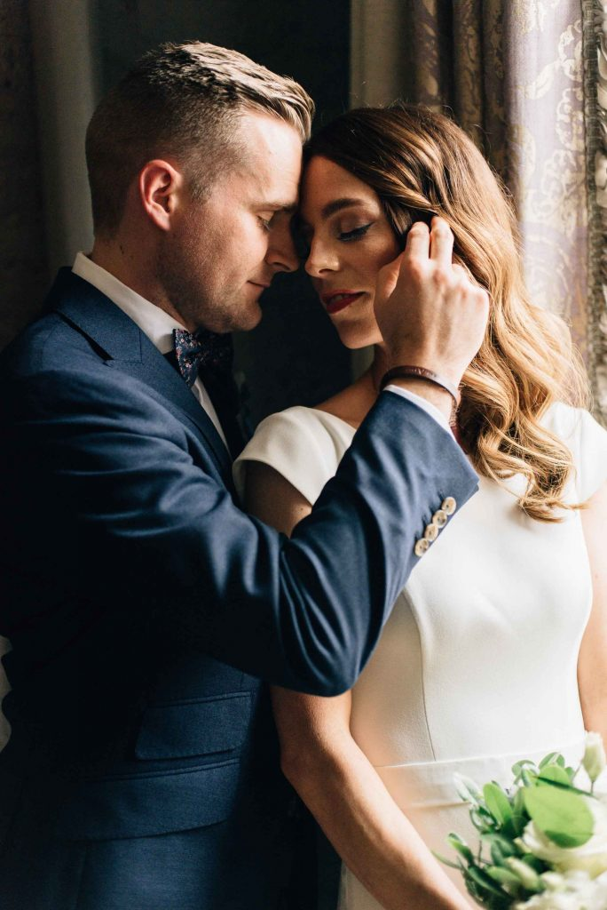 Romantic George Restaurant Wedding | Carolyn & Nick