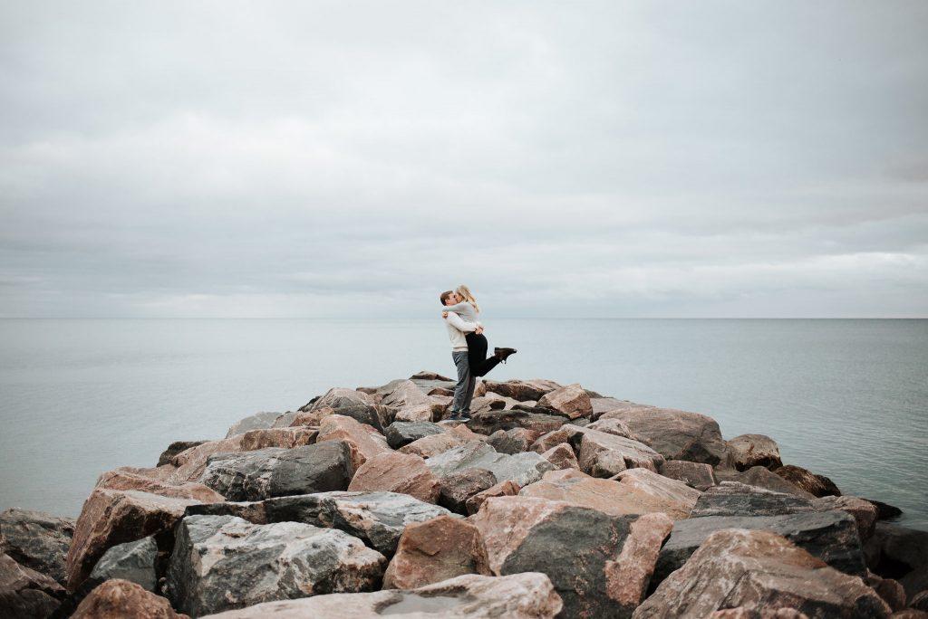 Leslieville & Balmy Beach Engagement | Mistyna & Joe