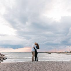 Toronto Beaches Engagement | Chiara & Steve